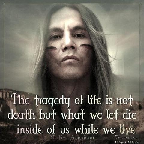 native american quotes think aboutit